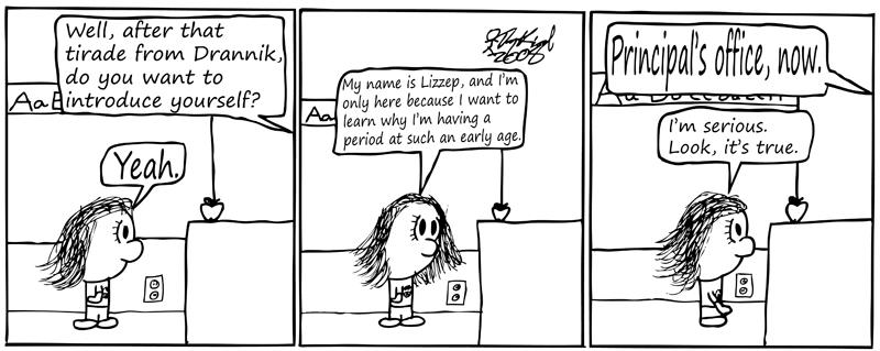 Negligence #68: Class, Please Welcome Lizzep
